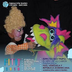 Filipo, El Niño De La Cabeza Puntiaguda, Lúdico Teatro @ Centro Cultural Narciso González   Santo Domingo   Distrito Nacional   República Dominicana