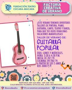 Guitarra Popular Factoria Creativa Verano @ Fundacion Teatro Cucara-Macara