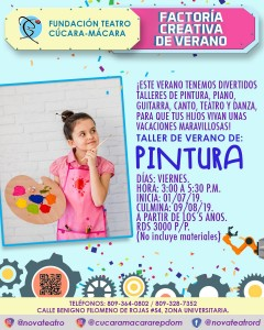 Pintura Factoria Creativa Verano @ Fundacion Teatro Cucara-Macara