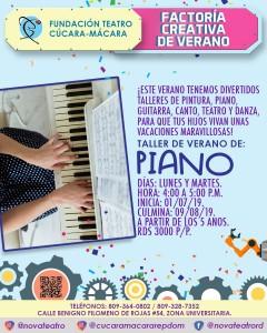 Piano Factoria Creativa Verano @ Fundacion Teatro Cucara-Macara